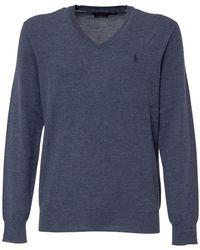 Polo Ralph Lauren V-neck Sweater - Blauw