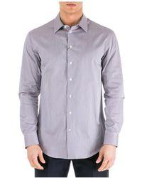 Emporio Armani Men's Long Sleeve Shirt Jurk Shirt - Paars