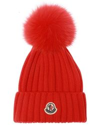 Moncler Hat With Logo - Rood
