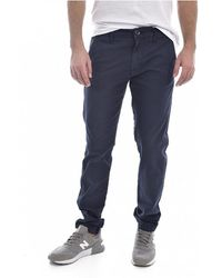 Guess Pantalon chino skinny stretch Myron - Bleu