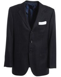 Kiton Jacket - Blauw