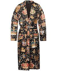 Dolce & Gabbana Patterned Bathrobe - Zwart