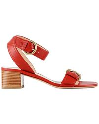 Gianvito Rossi Vitello Glove Sandals - Rood