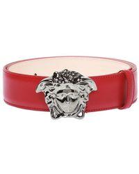 Versace Medusa Head Buckle Belt - Rood