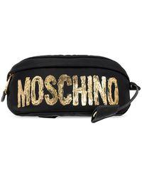 Moschino Belt Bag With Logo - Zwart