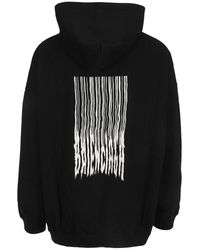Balenciaga Rear Graphic Print Hoodie Negro