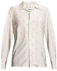 MISBHV Velour Monogram shirt - Gris