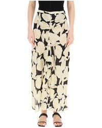 RIXO London London Vi Long Skirt - Naturel