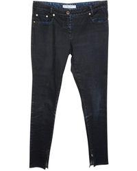 Dior Jeans skinny con cerniere laterali Pre-Posseduto Condizione Buono - Nero