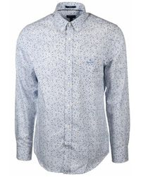 GANT Shirt Regular Fit Star Burst - Blauw