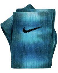 Nike Calzini Tie Dye Custom - Blauw