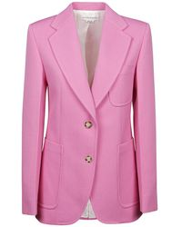 Victoria Beckham Fitted Jacket - Roze