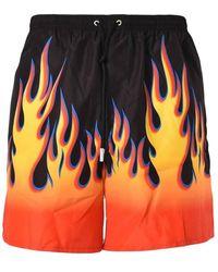 DSquared² Costume Boxer Back Vlam Met Logo - Oranje
