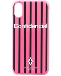 Marcelo Burlon Vertrouwelijk X Case - Roze