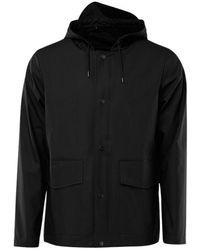 Rains Short Hooded jacket - Noir