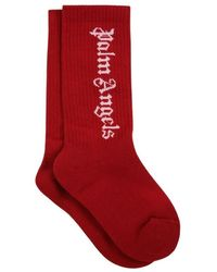 Palm Angels Socks With Logo - Rood