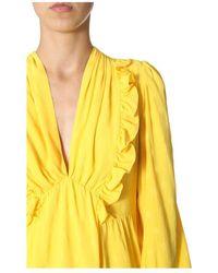 MSGM Polka Dots Dress Amarillo