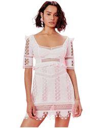 For Love & Lemons Amandine Mini Dress - Wit