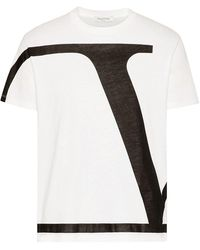 Valentino T-shirt Print Vltn - Wit