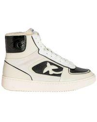 Pinko Harlow 1 Basket High Vitello Sneakers - Wit