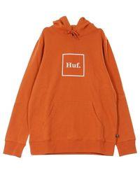 Huf Box Logo Hoodie - Bruin