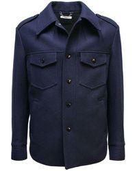 Dries Van Noten Wool Jacket - Blauw