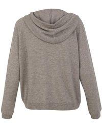 Allude Hoodie Sweater Marrón