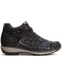 Xsensible Halfhoge Sneaker 30026.2.265 Filly Donkerblauw Geprint Leer