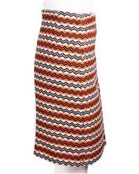 Marni Jacquard Knee Length Pencil Skirt Naranja