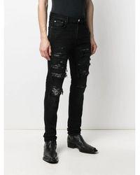 Amiri Bandana Thrash Jeans Negro