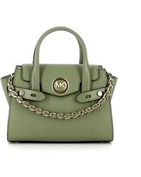 Michael Kors Carmen Xs Handbag In Leather - Groen