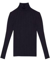 Aspesi Turtleneck Sweater IN Wool Blend 39785044 - Blau