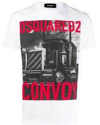 DSquared² T-shirt S74gd0647s22427 100 - Wit