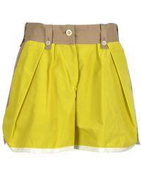 Sacai Bermuda Shorts - Geel