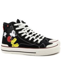 MOA High TOP Mickey Mouse Sneakers Negro