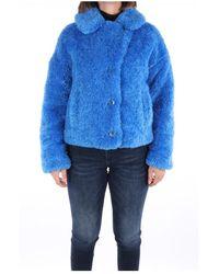 OOF WEAR Of-ja9011-of01 Fur Coat - Blauw