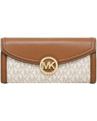 Michael Kors Fulton Flap Continental Signature Wallet - Bruin