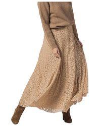 Vivetta Spotted Lace Plissè Skirt - Neutre