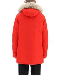 Woolrich Parka ártica con piel de coyote Rojo