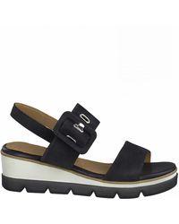Marco Tozzi Flat sandals - Azul