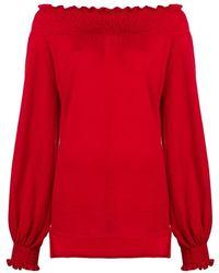 Laneus Bare Shoulder Blouse - Rood