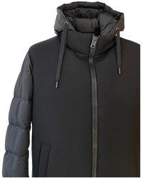 Herno Abrigo acolchado con capucha Negro