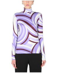 Raf Simons Turtle Neck Sweater - Paars