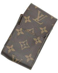 Louis Vuitton Étui à cigarettes d'occasion - Gris
