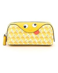 Anya Hindmarch I Am A Plastic Bag Zany Girlie Stuff Pouch - Geel