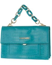CafeNoir B005 pochette con catena cocco - Azul