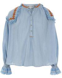 Antik Batik Pietro Blouse Pietro1blo - Blauw