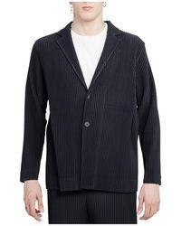 Issey Miyake Homme Plisse Jacket - Bleu