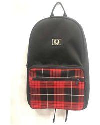 Fred Perry Subcultuur Rucksack Backpack Tartan-mochilas - Zwart