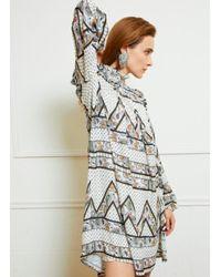 Silvian Heach Bissam Dress Paisley Print Blanco